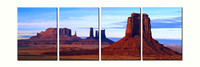 """Monument Valley 2"" quadtych"