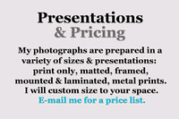 Presentations & Pricing Information