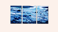 "'Lake Superior Canvas"" triptych weighted center"