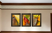 """Intimate Autumn"" VF triptych of framed images"