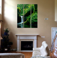 "Virtual Fitting of ""Punchbowl Falls"" triptych"